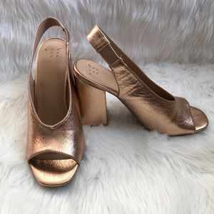 a new day Shoes - A New Day • Rose Gold Block Heels